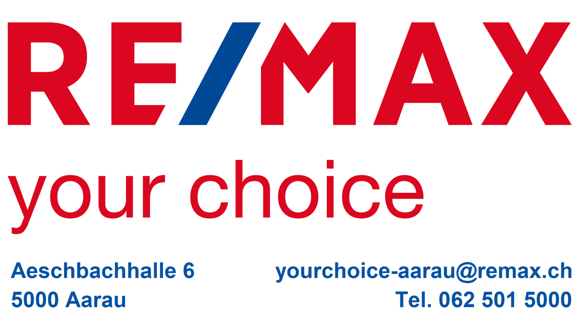 Logo RE/MAX your choice - Aarau